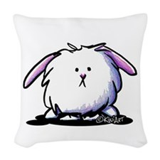 KiniArt Dust Bunny Woven Throw Pillow