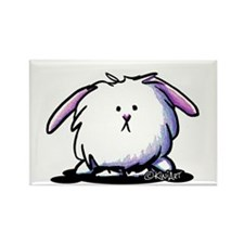 KiniArt Dust Bunny Rectangle Magnet