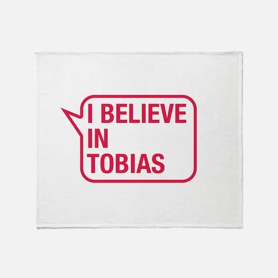 I Believe In Tobias Throw Blanket