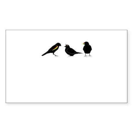 3 little birds Sticker (Rectangle)