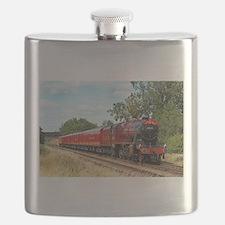 Vintage Steam Engine Flask