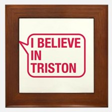 I Believe In Triston Framed Tile