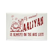 Nice List Aaliyah Christmas Rectangle Magnet