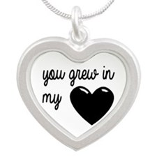 You Grew In My Heart Silver Heart Necklace