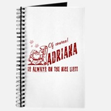 Nice List Adriana Christmas Journal