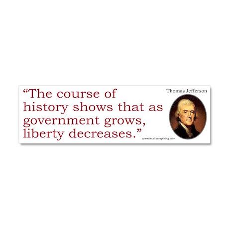 Jefferson: History Shows Car Magnet 10 x 3