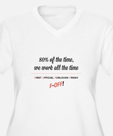 First Official Furlough Friday White Plus Size T-S