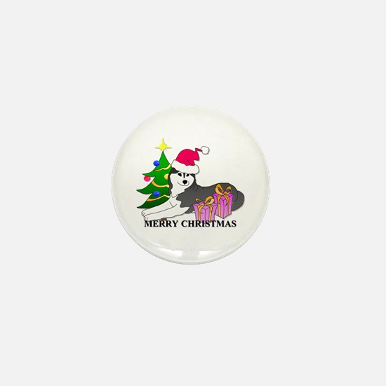 Siberian Husky Mini Button