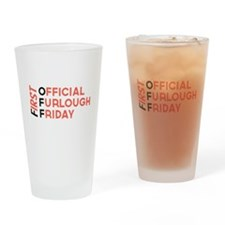First Official Furlough Friday Logo Drinking Glass