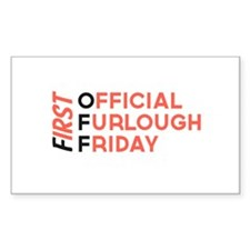 First Official Furlough Friday Logo Decal