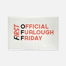 First Official Furlough Friday Logo Rectangle Magn