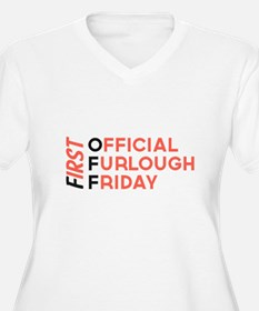First Official Furlough Friday Logo Plus Size T-Sh