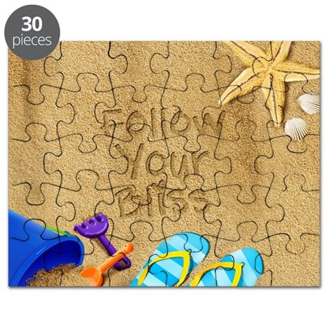 Beach Follow Your Bliss Puzzle