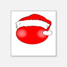Smiley Red Santa Sticker