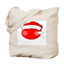 Smiley Red Santa Tote Bag