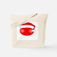 Smiley Red Santa Tote Bag