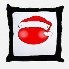 Smiley Red Santa Throw Pillow