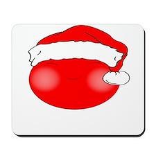 Smiley Red Santa Mousepad