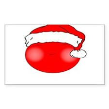 Smiley Red Santa Decal