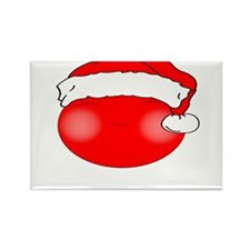 Smiley Red Santa Rectangle Magnet