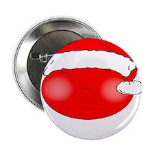 """Smiley Red Santa 2.25"""" Button"""