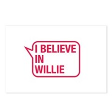 I Believe In Willie Postcards (Package of 8)