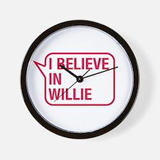 I Believe In Willie Wall Clock