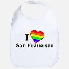 I Love [Heart] San Francisco Bib