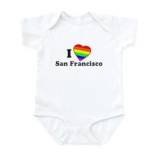 I Love [Heart] San Francisco Infant Bodysuit