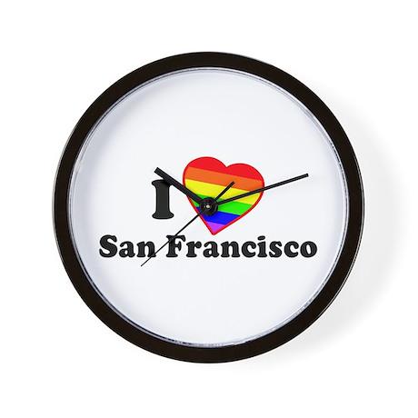 I Love [Heart] San Francisco Wall Clock