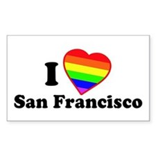 I Love [Heart] San Francisco Rectangle Decal