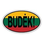 Budek! Sticker (Oval)