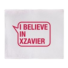 I Believe In Xzavier Throw Blanket