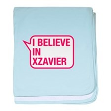 I Believe In Xzavier baby blanket