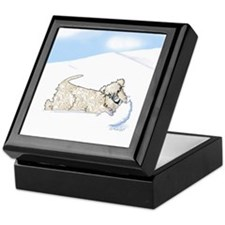 Wheaten Snow Plow Keepsake Box