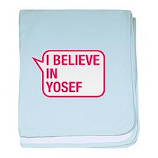 I Believe In Yosef baby blanket