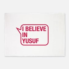 I Believe In Yusuf 5'x7'Area Rug