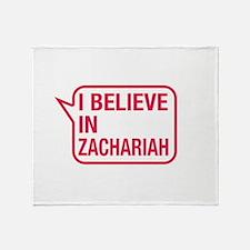 I Believe In Zachariah Throw Blanket
