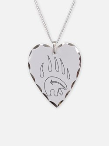 Tribal Bear Necklace Native Wildlife Art Jewelry