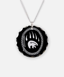 Tribal Bear Necklace Native Wildlife Art Jewelry