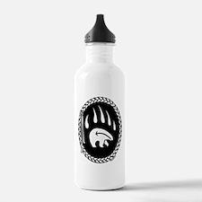 Native Art Tribal Bear Water Bottle