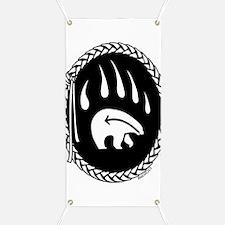 Native Art Banners Tribal Bear Art Banner