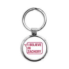 I Believe In Zachery Keychains