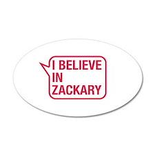 I Believe In Zackary Wall Decal