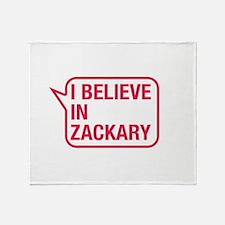 I Believe In Zackary Throw Blanket