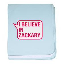 I Believe In Zackary baby blanket