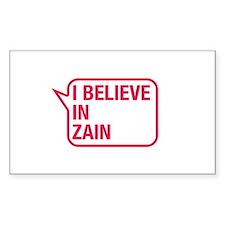I Believe In Zain Decal