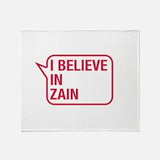 I Believe In Zain Throw Blanket