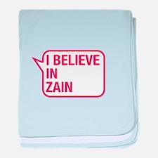 I Believe In Zain baby blanket