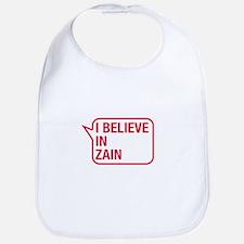 I Believe In Zain Bib
